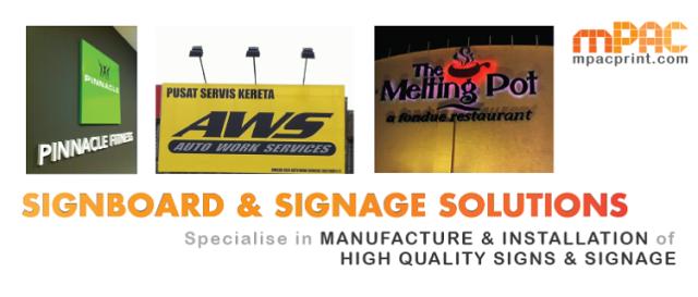 Signboard maker Signboard design Malaysia